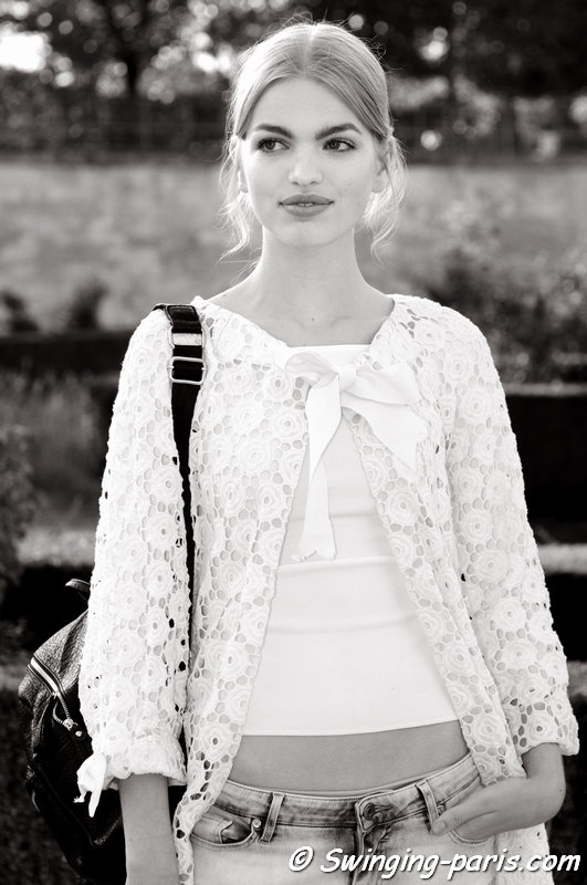 Daphne Groeneveld leaving Nina Ricci show, Paris S/S 2015 RtW Fashion Week, September 2014