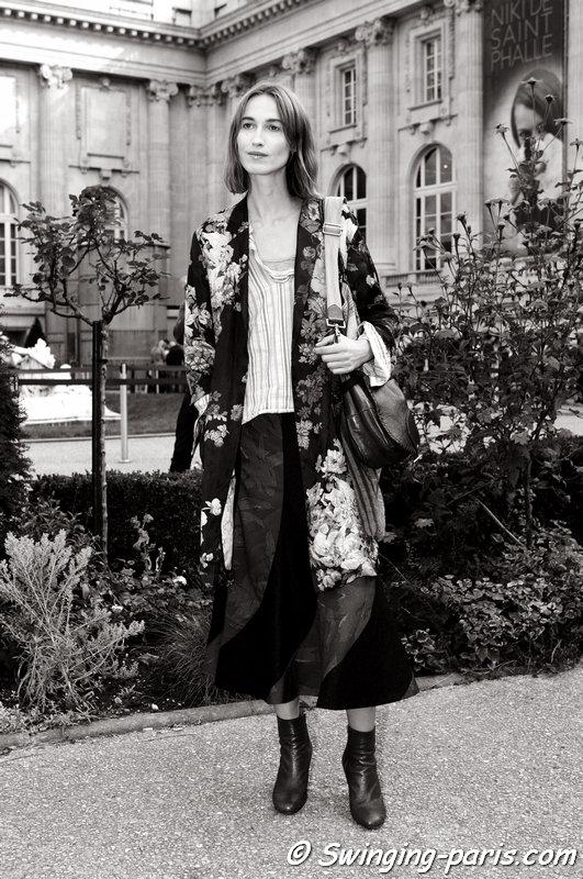 Sylvia van der Klooster outside Dries van Noten show, Paris S/S 2015 RtW Fashion Week, September 2014