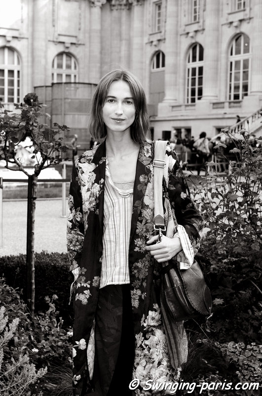 Sylvia van der Klooster outside Dries van Noten show, Paris S/S 2015 RtW Fashion Week, September 2014