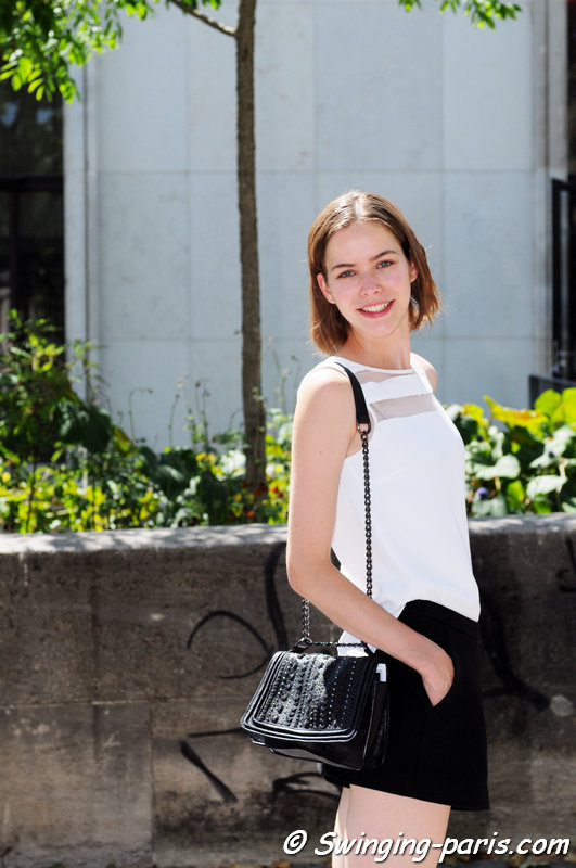 Alexandra Hochguertel outside Georges Hobeika show, Paris Haute Couture F/W 2015 Fashion Week, July 2015