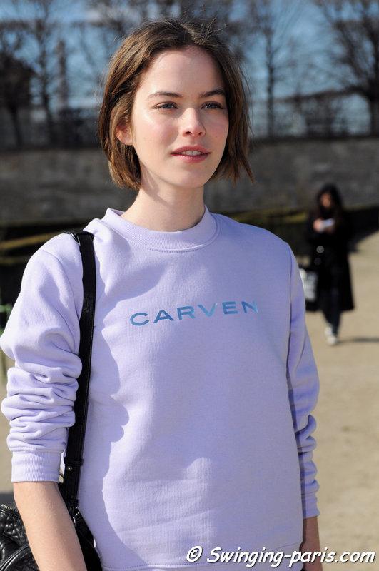 Alexandra Hochguertel outside Carven show, Paris F/W 2015 RtW Fashion Week, March 2015
