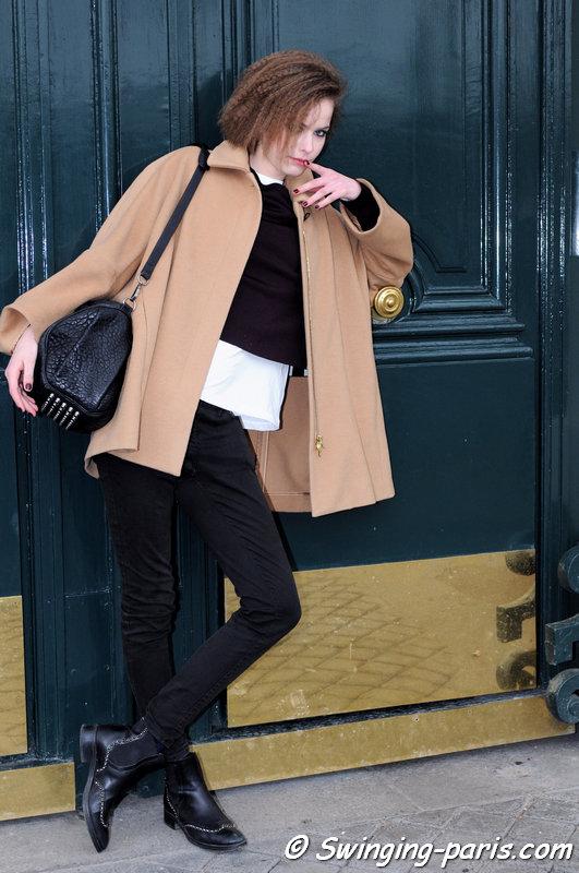 Alexandra Hochguertel outside Vanessa Seward show, Paris F/W 2015 RtW Fashion Week, March 2015