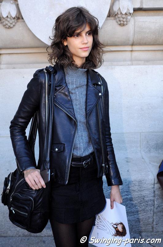 Antonina Petkovic leaving Barbara Bui show, Paris S/S 2016 RtW Fashion Week, October 2015