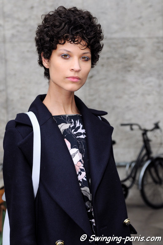 Ari Westphal (Ariely Westphal) outside Léonard show, Paris S/S 2016 RtW Fashion Week, October 2015