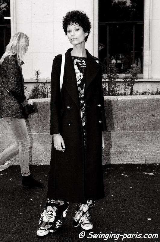 Ari Westphal (Ariely Westphal) outside Léonard show, Paris S/S 2016 RtW Fashion Week, October 2015