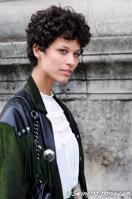 Ari Westphal (Ariely Westphal) leaving Allude show, Paris S/S 2016 RtW Fashion Week, October 2015