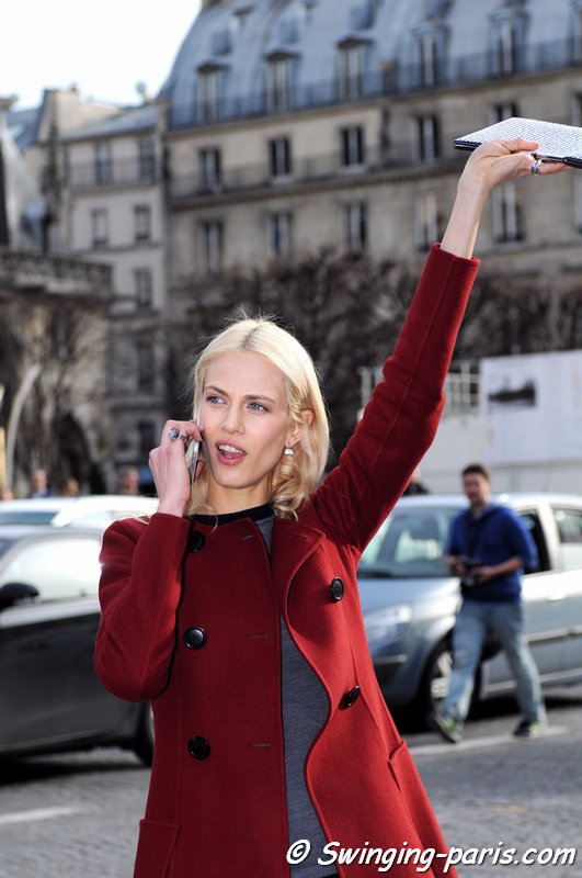 Aymeline Valade leaving Christian Dior show, Paris F/W 2015 RtW Fashion Week, March 2015