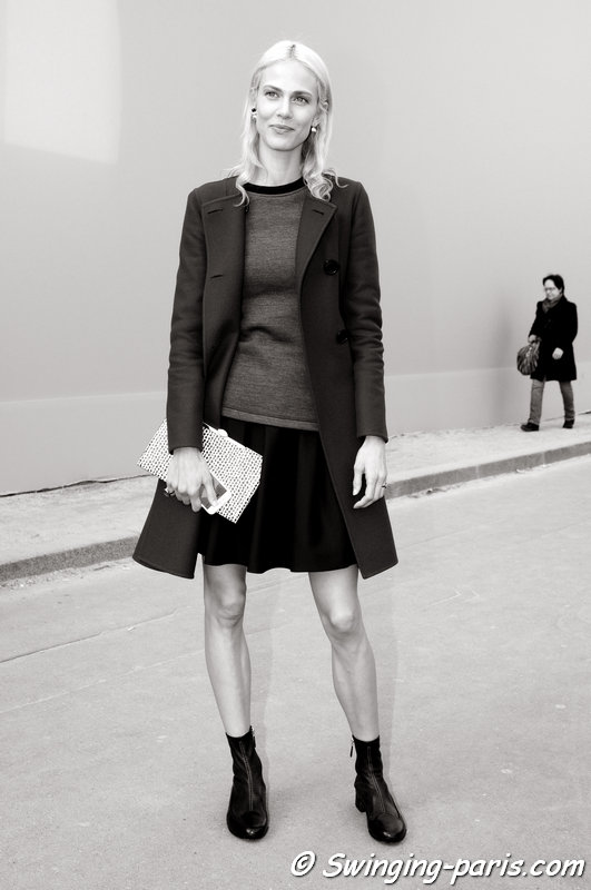 Aymeline Valade leaving Christian Dior show, Paris F/W 2015 RtW Fashion Week, March 2015