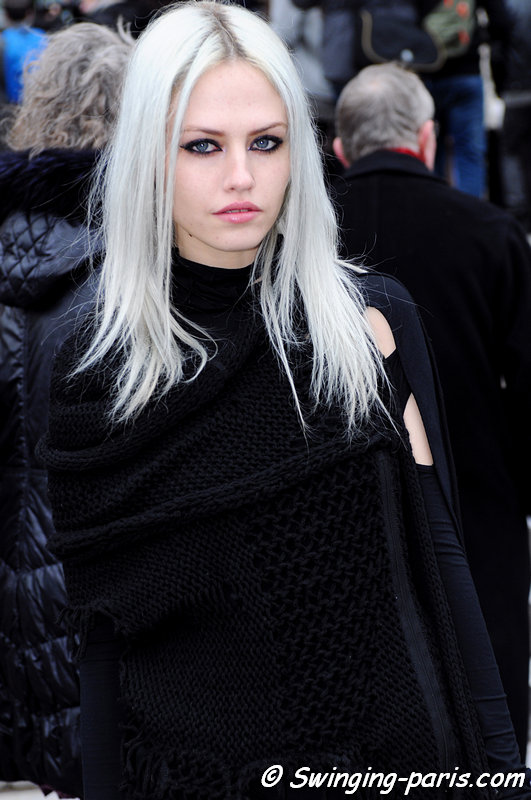 Charlotte Free outside Chanel show, Paris Haute Couture S/S 2015 Fashion Week, January 2015