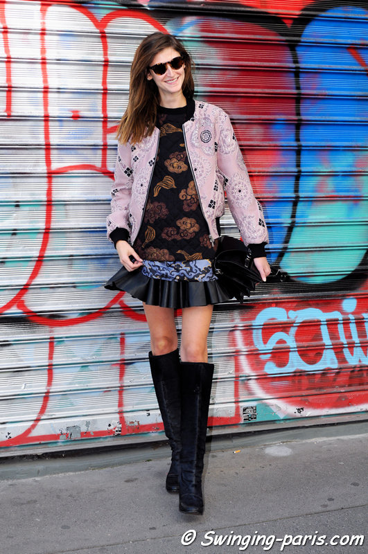 Daiane Conterato leaving Dries van Noten show, Paris S/S 2016 RtW Fashion Week, September 2015