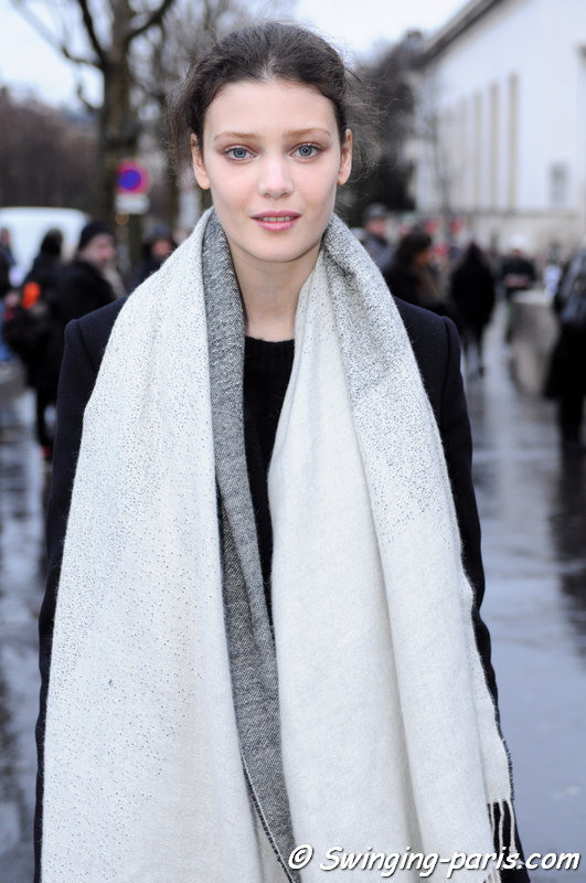 Diana Moldovan leaving Viktor & Rolf show, Paris Haute Couture S/S 2015 Fashion Week, January 2015