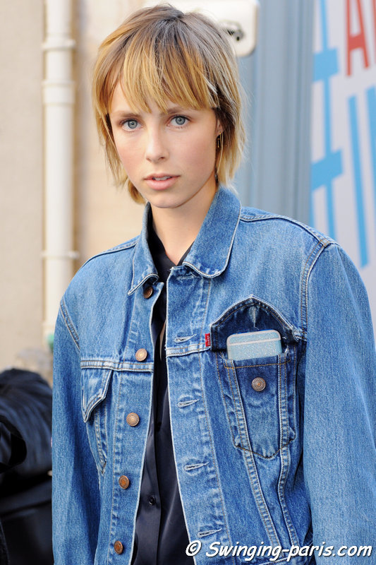Edie Campbell leaving Isabel Marant show, Paris S/S 2016 RtW Fashion Week, October 2015