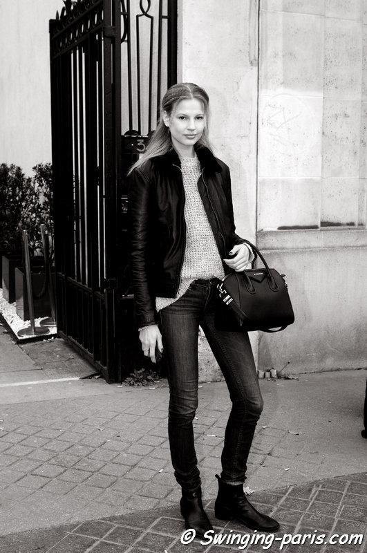 Elisabeth Erm outside Vanessa Seward show, Paris F/W 2015 RtW Fashion Week, March 2015