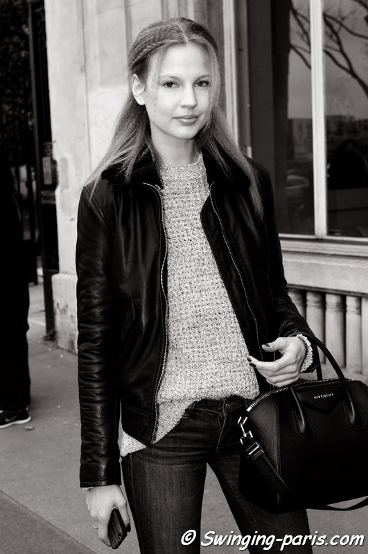Elisabeth Erm outside Vanessa Seward show, Paris F/W 2015 RtW Fashion Week, March 2015