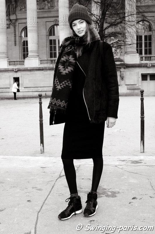 Emmy Rappe leaving Chanel show, Paris Haute Couture S/S 2015 Fashion Week, January 2015