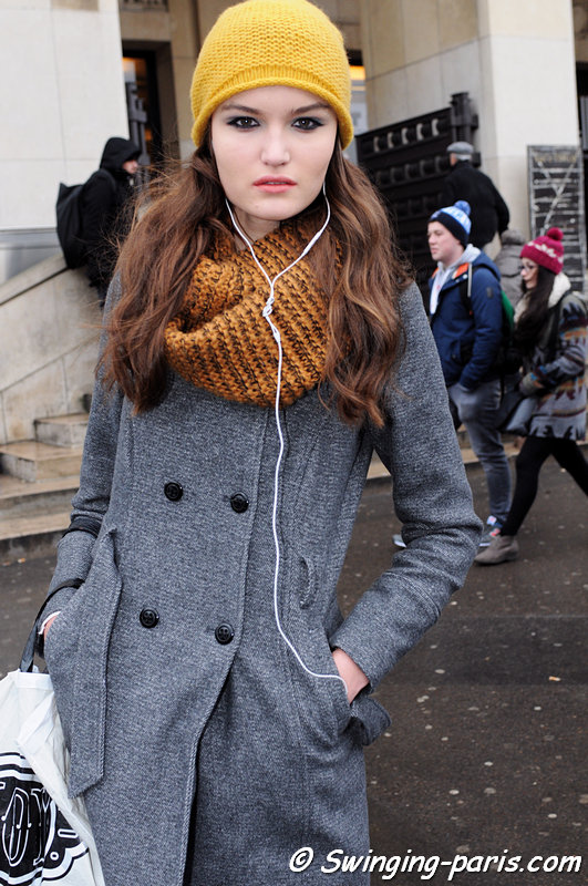 Esmee Middel leaving Elie Saab show, Paris Haute Couture S/S 2015 Fashion Week, January 2015