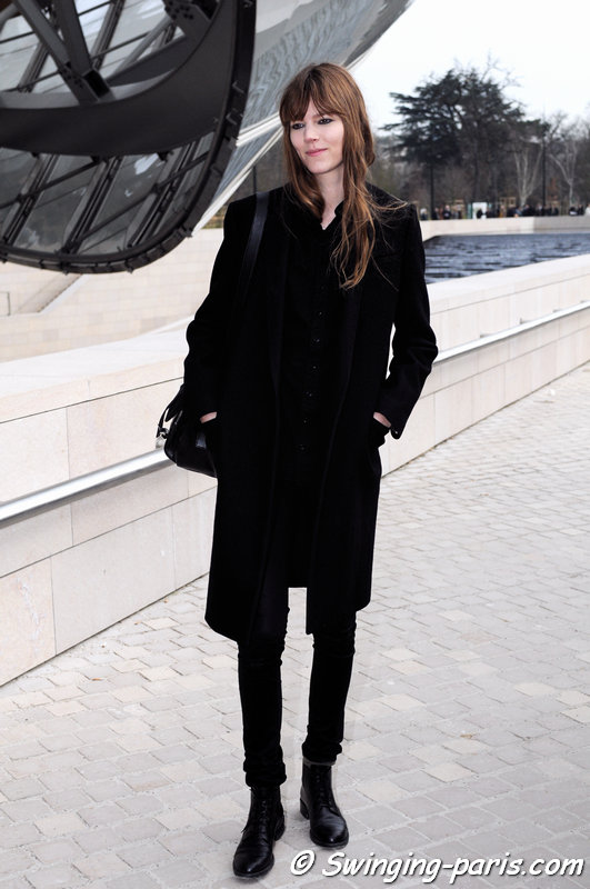 Freja Beha Erichsen exiting Louis Vuitton show, Paris F/W 2015 RtW Fashion Week, March 2015