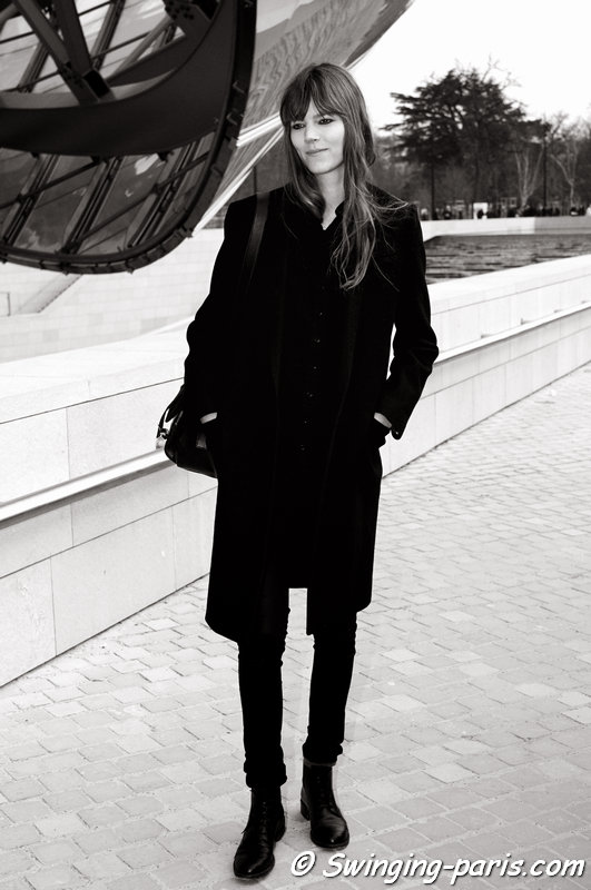 Freja Beha Erichsen exiting Louis Vuitton show, Paris F/W 2015 RtW Fashion Week, March 2015