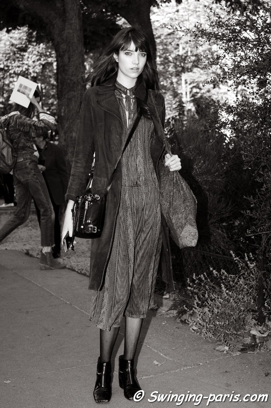 Grace Hartzel (Next Paris) outside Chloé show, Paris S/S 2016 RtW Fashion Week, October 2015