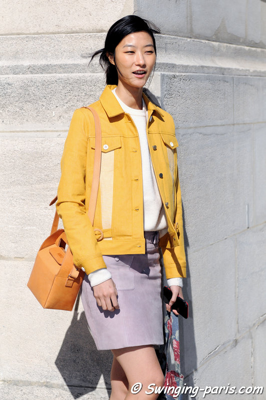 Ji Hye Park leaving Guy Laroche show, Paris S/S 2016 RtW Fashion Week, September 2015
