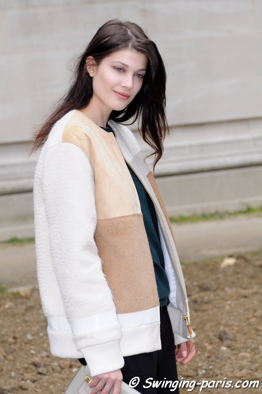 Larissa Hofmann outside Chanel show, Paris F/W 2015 RtW Fashion Week, March 2015
