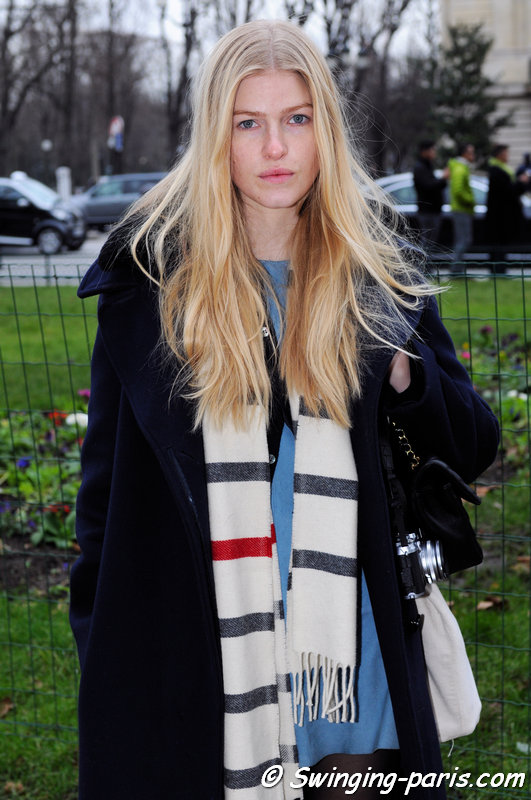 Louise Parker leaving Chanel show, Paris Haute Couture S/S 2015 Fashion Week, January 2015