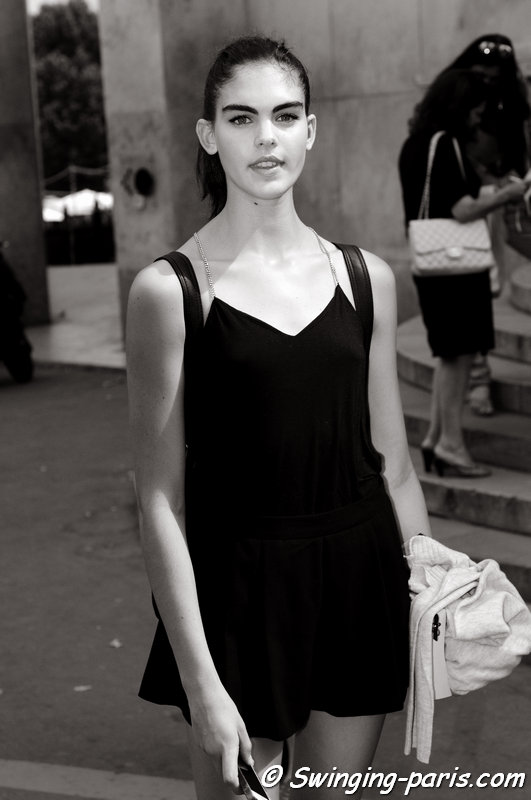 Mieke Visser leaving Georges Chakra show, Paris Haute Couture F/W 2015 Fashion Week, July 2015