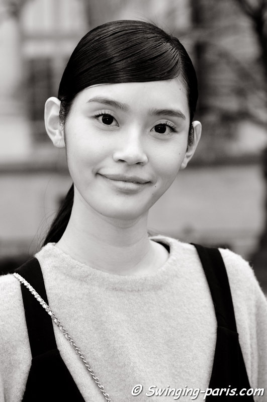 "Mengyao ""Ming"" Xi leaving Chanel show, Paris F/W 2015 RtW Fashion Week, March 2015"