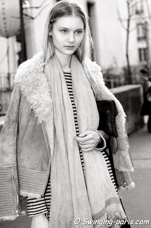 Nastya Kusakina (Настя Кусакина) leaving Wunderkind show, Paris F/W 2015 RtW Fashion Week, March 2015