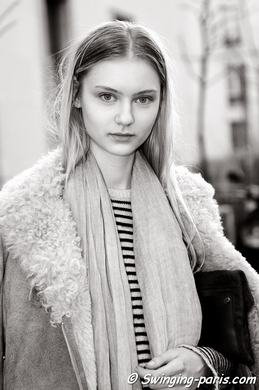 Nastya Kusakina (Настя Кусакина) leaving Wunderkind show, Paris F/W 2015 RtW Fashion Week, March 2015