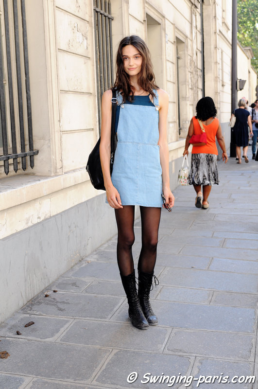 Rachel Finninger leaving Christian Dior show, Paris Haute Couture F/W 2015 Fashion Week, July 2015