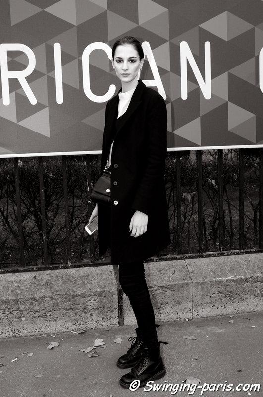 "Rosanna ""Ros"" Georgiou outside Vanessa Seward show, Paris F/W 2015 RtW Fashion Week, March 2015"