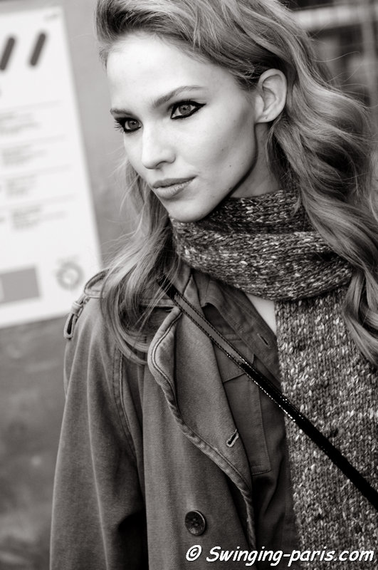 Sasha Luss (Саша Лусс) leaving Elie Saab show, Paris Haute Couture S/S 2015 Fashion Week, January 2015