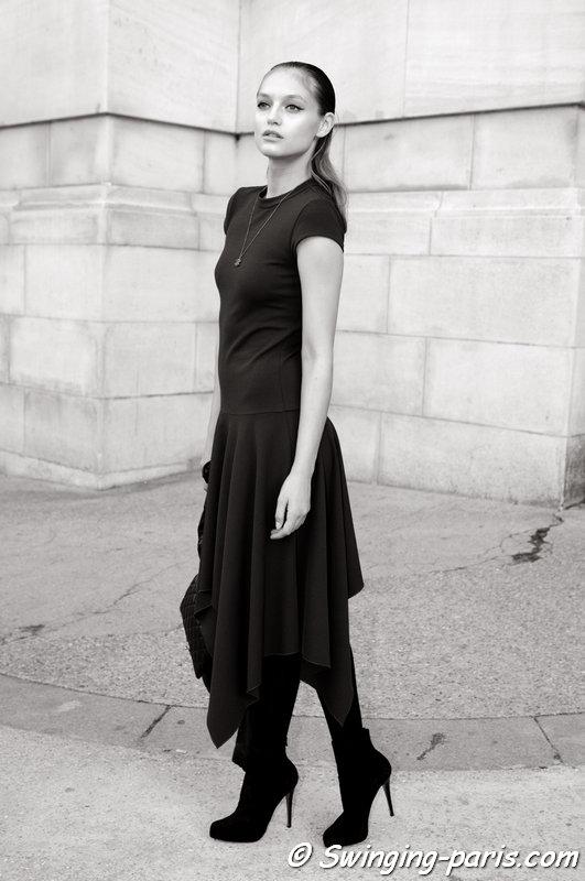 Svetlana Zakharova (Светлана Захарова) outside Shiatzy Chen show, Paris S/S 2015 RtW Fashion Week, September 2014