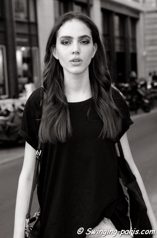 Tako Natsvlishvili leaving Ralph & Russo show, Paris Haute Couture F/W 2015 Fashion Week, July 2015