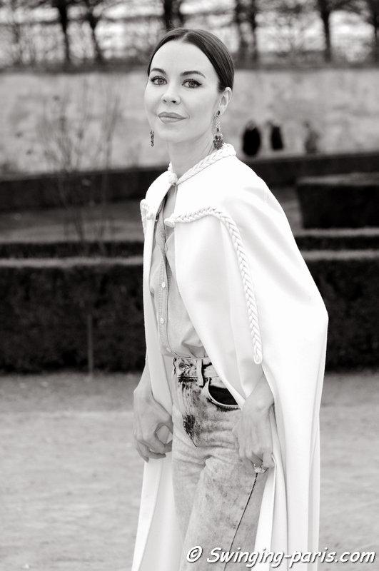 Ulyana Sergeenko (Ульяна Сергеенко) leaving Valentino show, Paris F/W 2015 RtW Fashion Week, March 2015