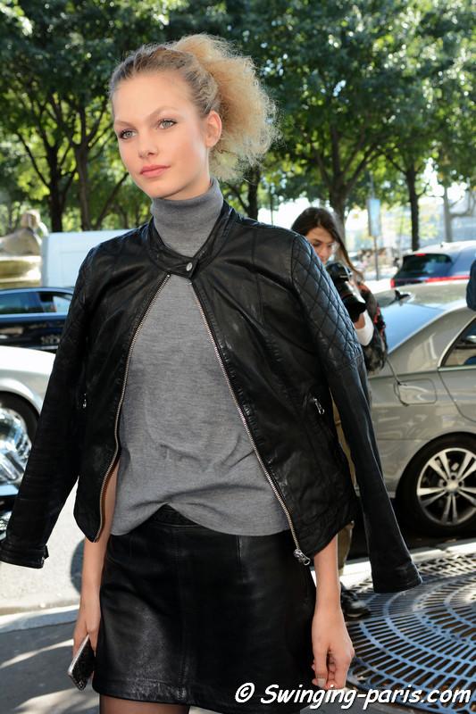Annika Krijt outside Vanessa Seward show, Paris S/S 2017 RtW Fashion Week, October 2016