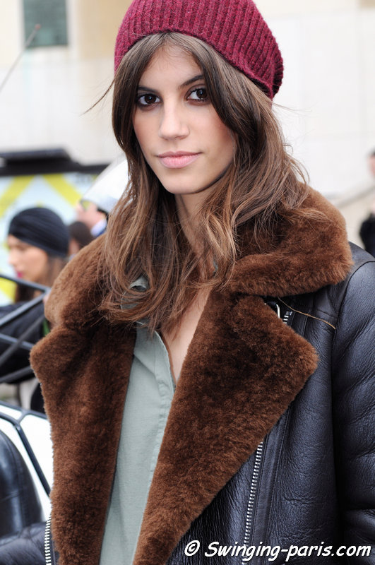 Antonina Petkovic leaving Elie Saab show, Paris Haute Couture SS 2016 Fashion Week, January 2016