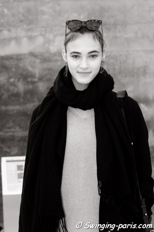 Greta Varlese leaving Valentino show, Paris FW 2016 RtW Fashion Week, March 2016