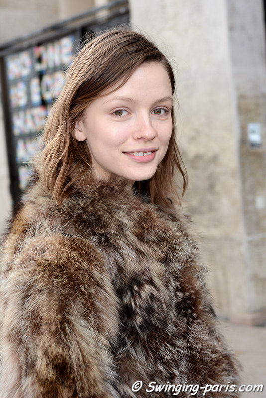 Ira Sumbaeva outside Julien David show, Paris FW 2016 RtW Fashion Week, March 2016