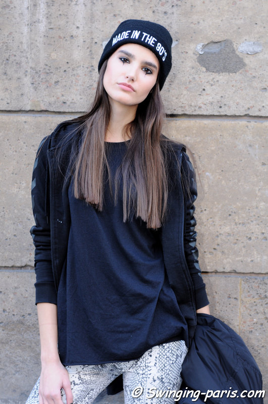 Ivana Anic leaving Dice Kayek show, Paris Haute Couture SS 2016 Fashion Week, January 2016