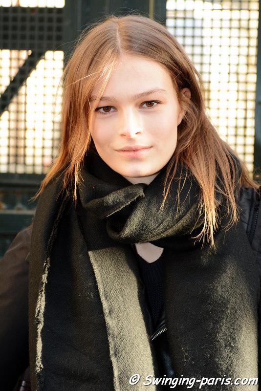Josephine Kleinendorst outside Hermès show, Paris FW 2016 RtW Fashion Week, March 2016