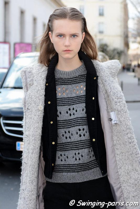 Julie Hoomans leaving Paco Rabanne show, Paris FW 2016 RtW Fashion Week, March 2016