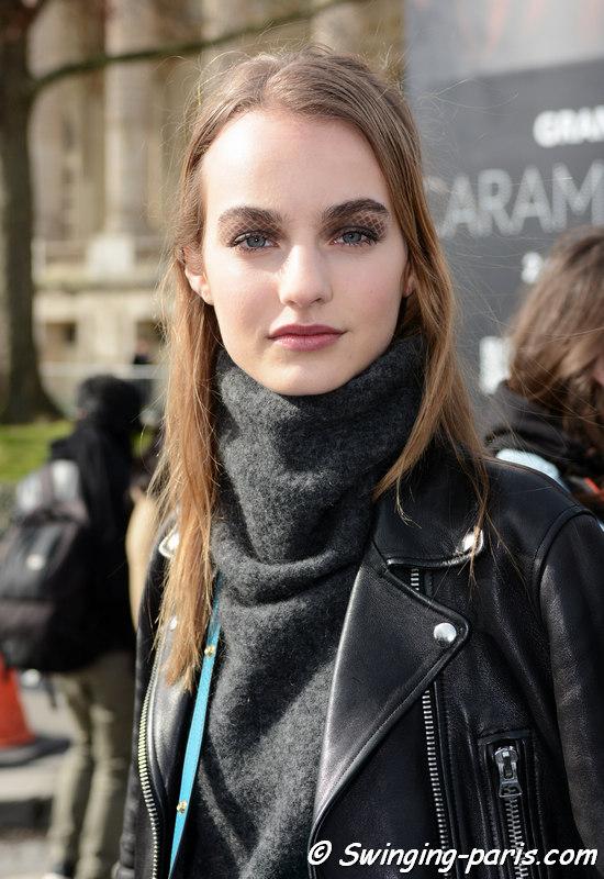 Maartje Verhoef leaving Chanel show, Paris FW 2016 RtW Fashion Week, March 2016