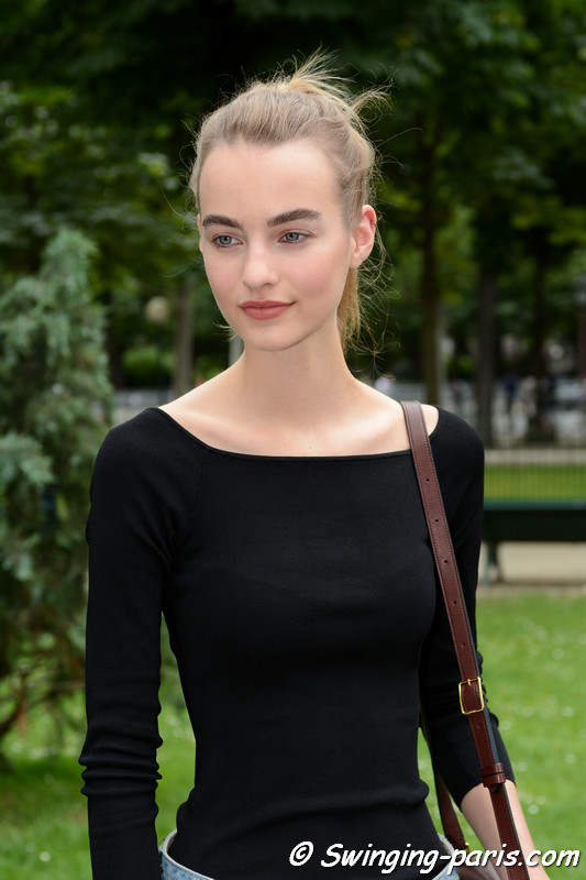 Maartje Verhoef leaving Chanel show, Paris F/W 2016 Haute Couture Fashion Week, July 2016