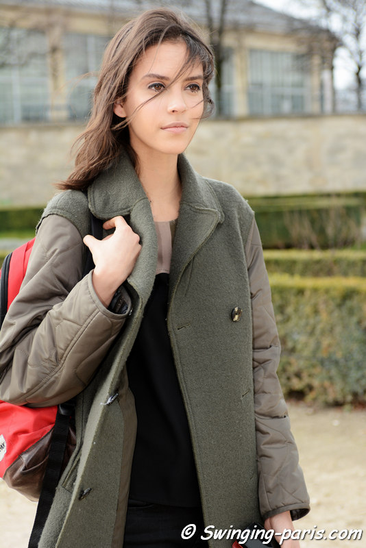 Nirvana Naves leaving Carven show, Paris FW 2016 RtW Fashion Week, March 2016