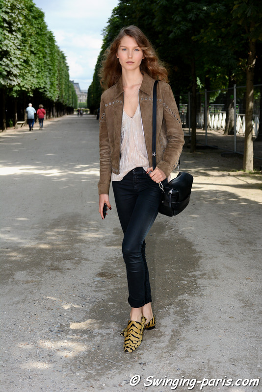 Paula Simkuse leaving Georges Chakra show, Paris F/W 2016 Haute Couture Fashion Week, July 2016