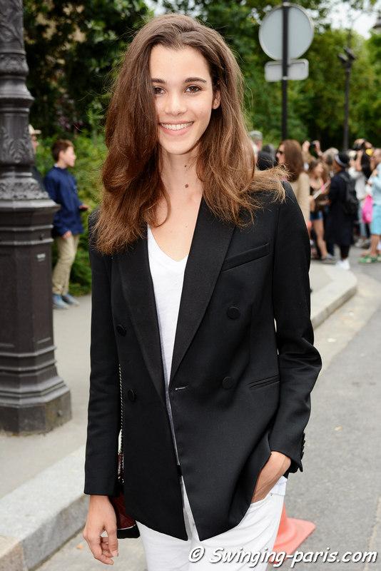 Pauline Hoarau leaving Chanel show, Paris F/W 2016 Haute Couture Fashion Week, July 2016