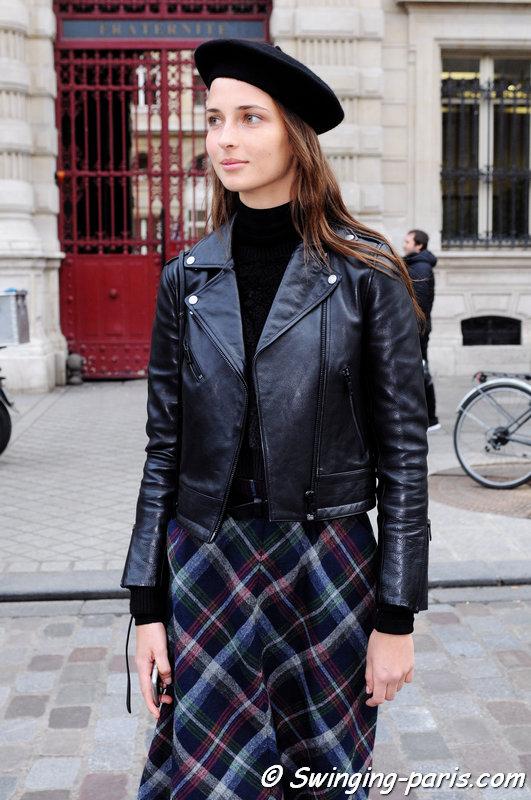 Waleska Gorczevski outside Bouchra Jarrar show, Paris Haute Couture SS 2016 Fashion Week, January 2016