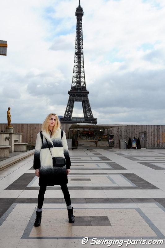 Zlata Semenko outside Ann Demeulemeester show, Paris FW 2016 RtW Fashion Week, March 2016